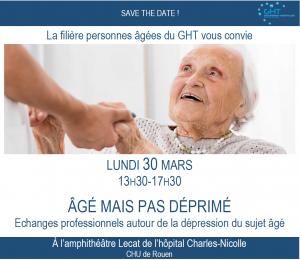 Save the date journée thématique âgé mais paq déprimé